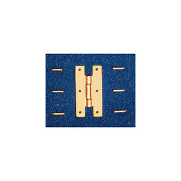 Solid Brass Miniature 'H' Hinges
