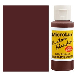 MicroLux Acrylic Brush-On Paints, 2 Oz Bottles, 10 Colors