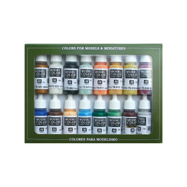 NAVAL STEAM PAINT SET (16)
