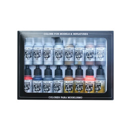 Metallic Colors Model Air Paint Set