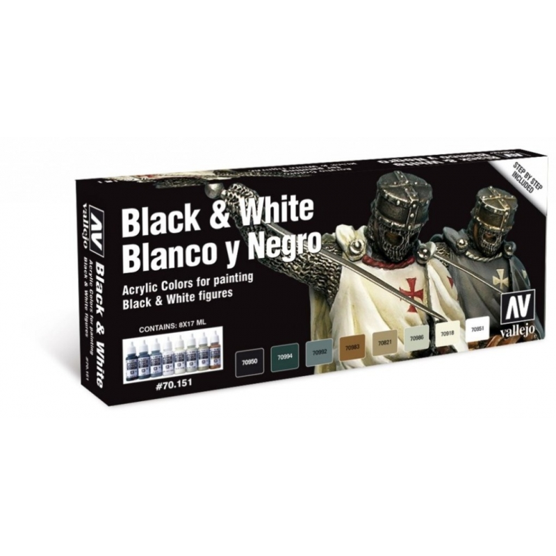 Black and White Color Paint Set