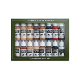 Face & Skin Colors PAINT SET (16)