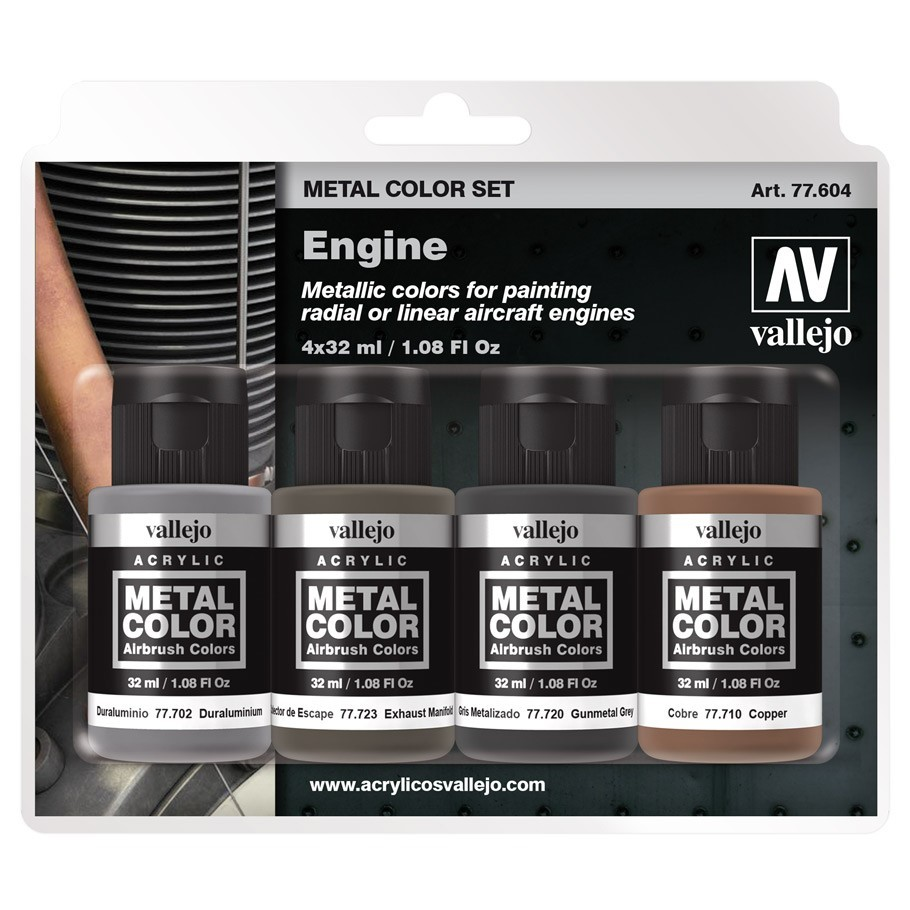 Metal Color Engine Paint Set