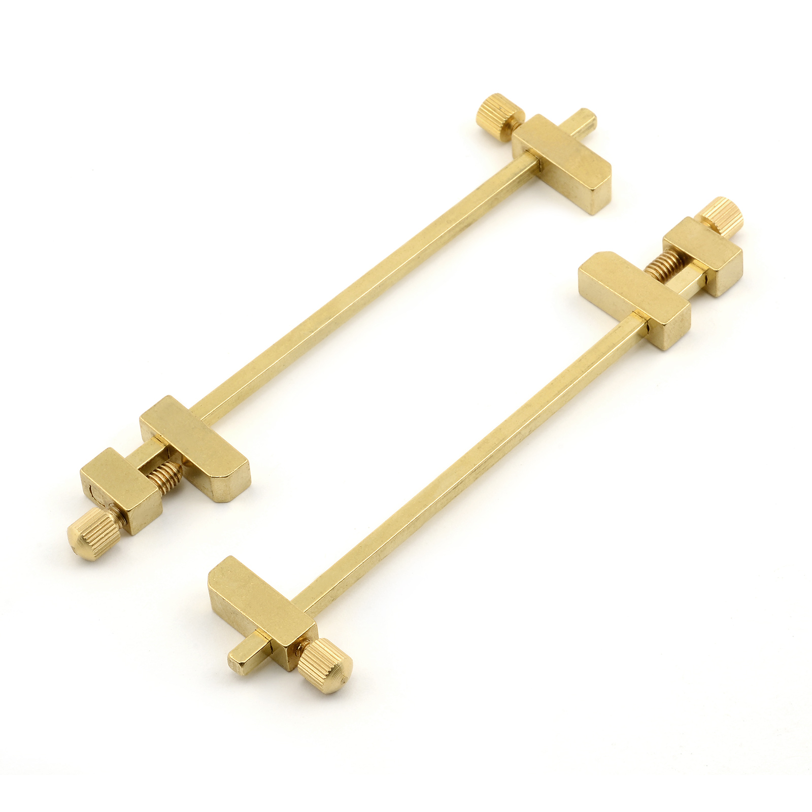 Solid brass miniature bar clamps inches long set of