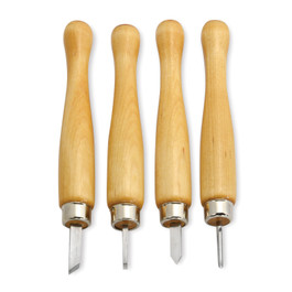 4-piece Mini Turning Tool Set
