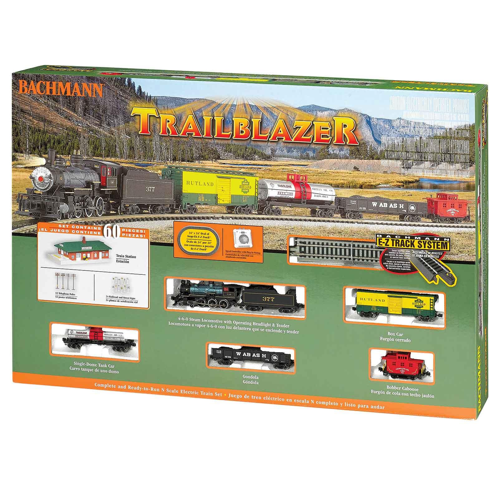 Bachmann N Scale Trailblazer E-Z Track Electric Train Set