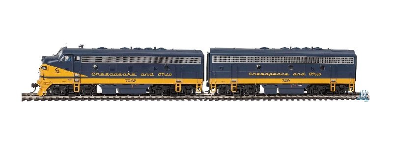 EMD F7A-B Set - Chesapeake & Ohio