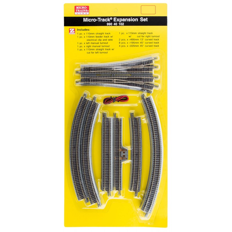 Z Scale Micro-Track Expansion Set
