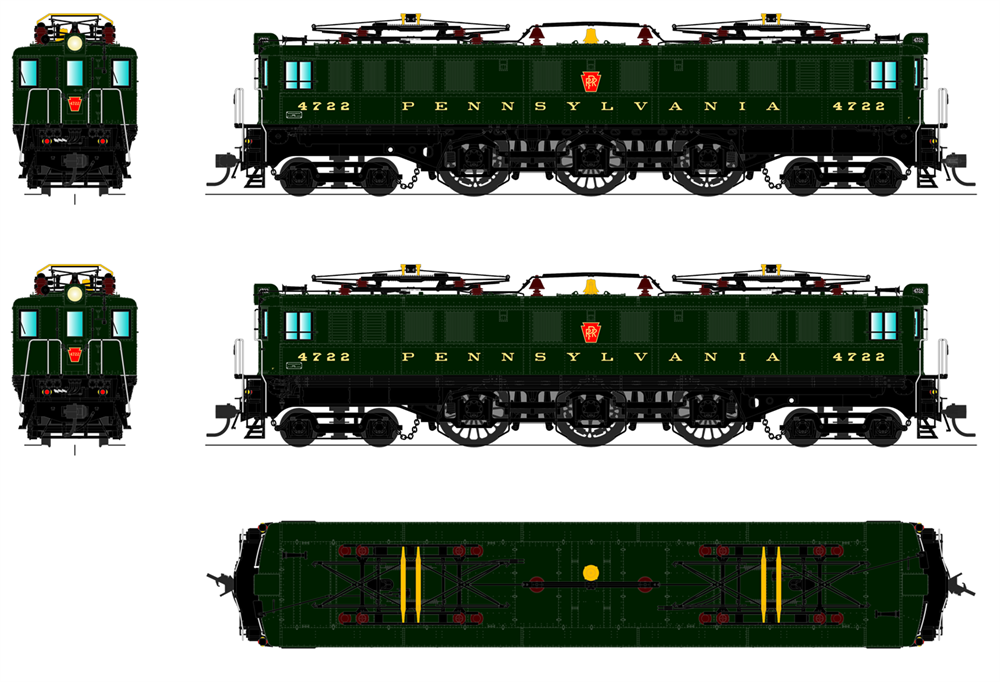 PRR P5a Boxcab Freight 3
