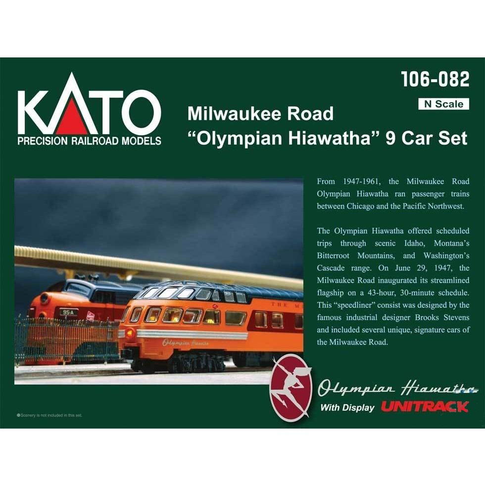 Kato Milwaukee Road Olympian Hiawatha 48 Seat Coach #524        N-scale