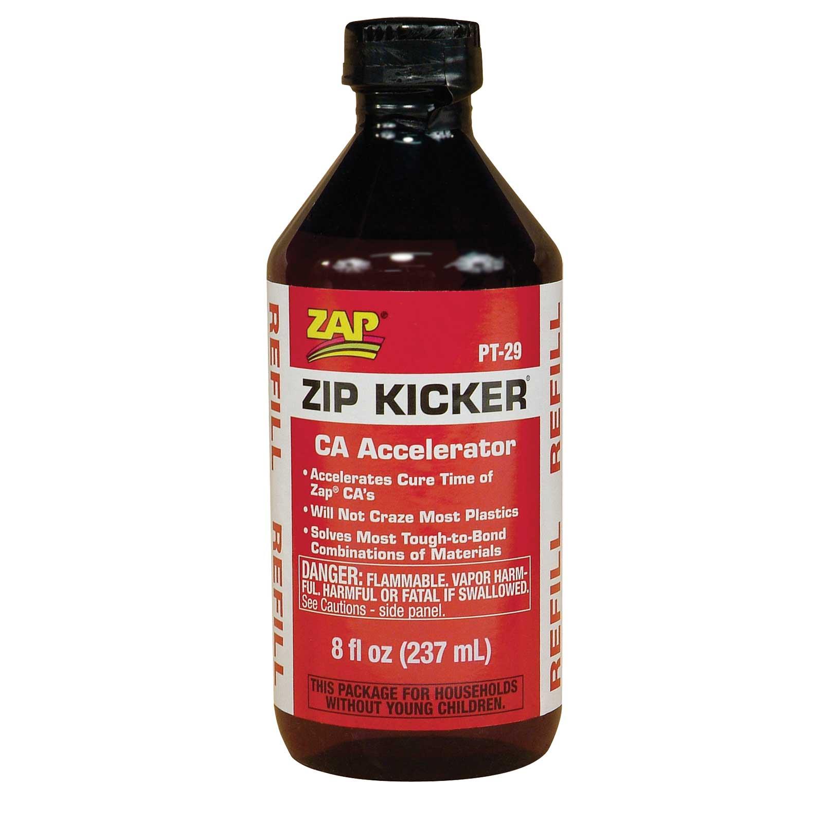 Zip Kicker Super Glue Accelerator  8 Oz  Liquid