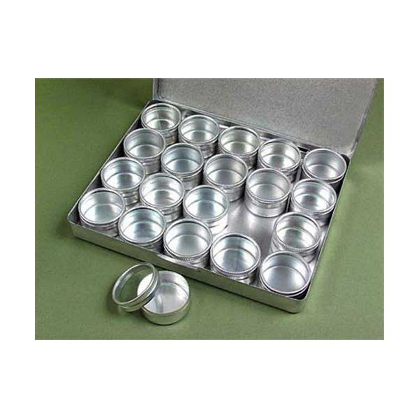 Aluminum storage case with containers