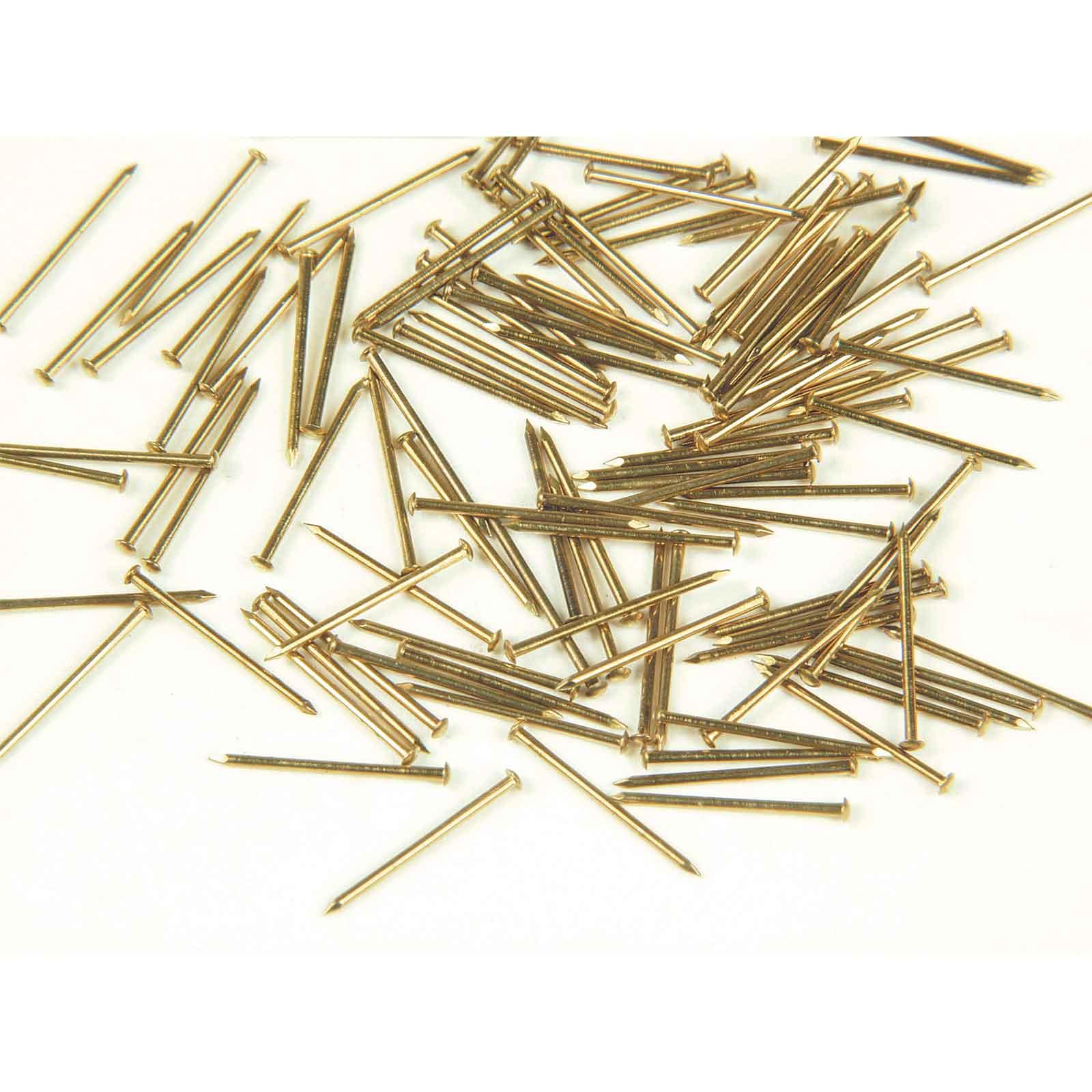 Dollhouse Miniature Brass Mini Nails 3//32 in long