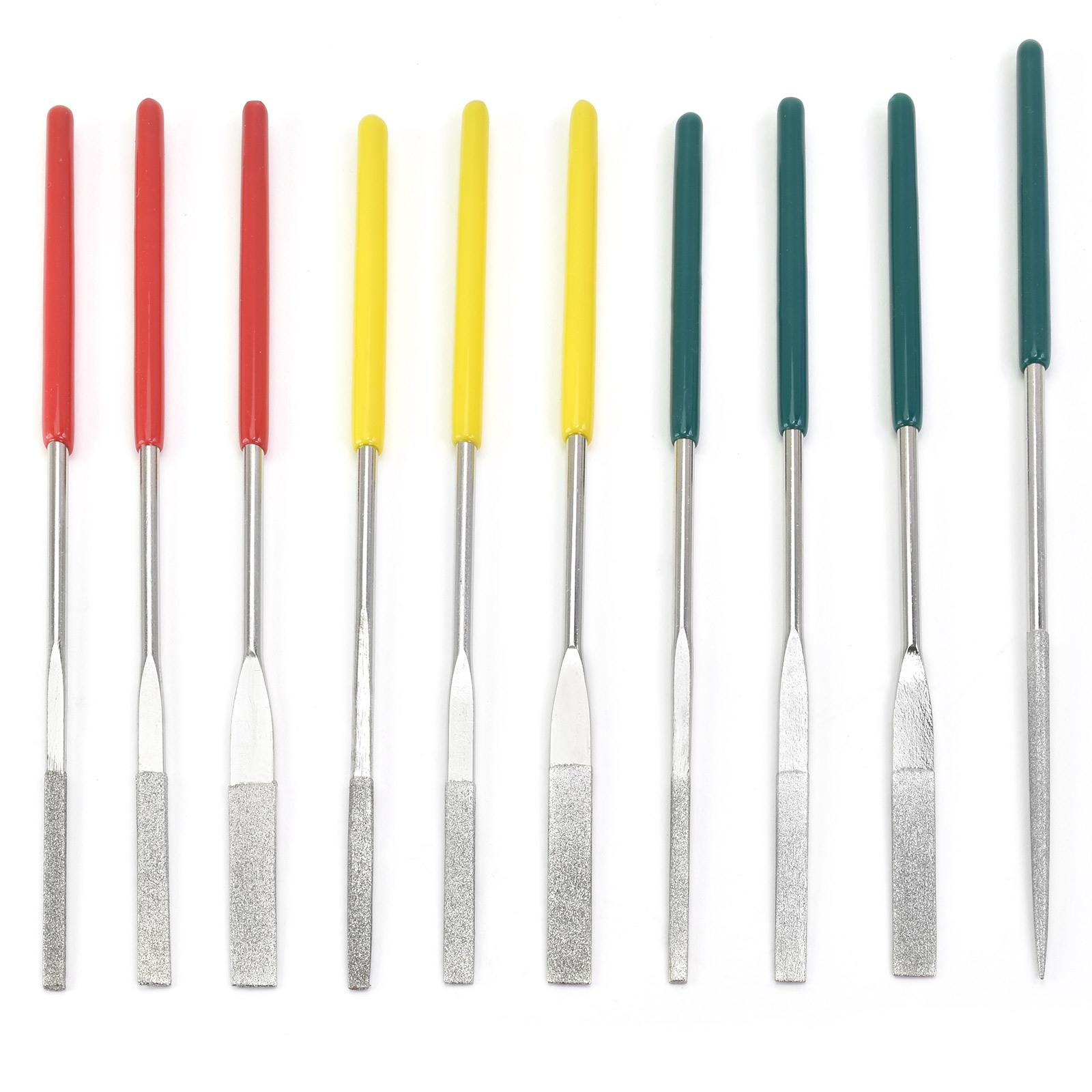 10PC Mini Diamond Grit Needle File Set