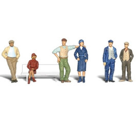 Bystanders Figure Set, HO Scale