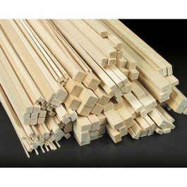 BASSWOOD STRIP ASSORTMT 12""