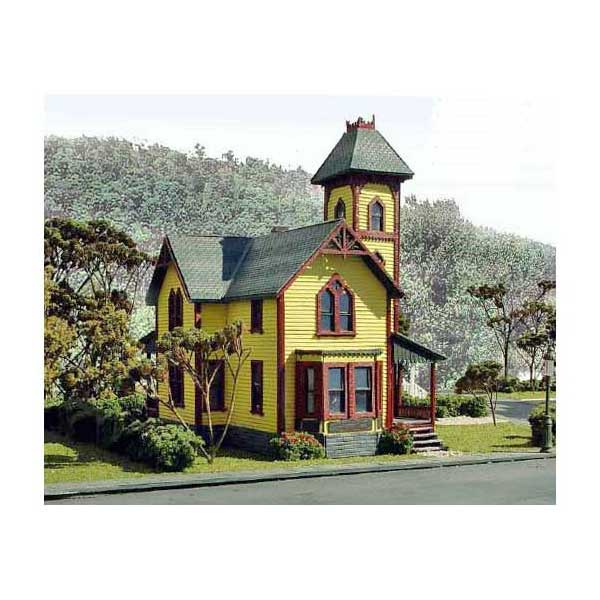 Cottage Home With Tower Kit By Laser Art Structures Ho Scale