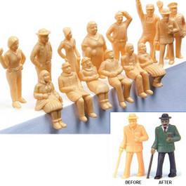 Model Power Unpainted Figures (36 pcs) - O Scale
