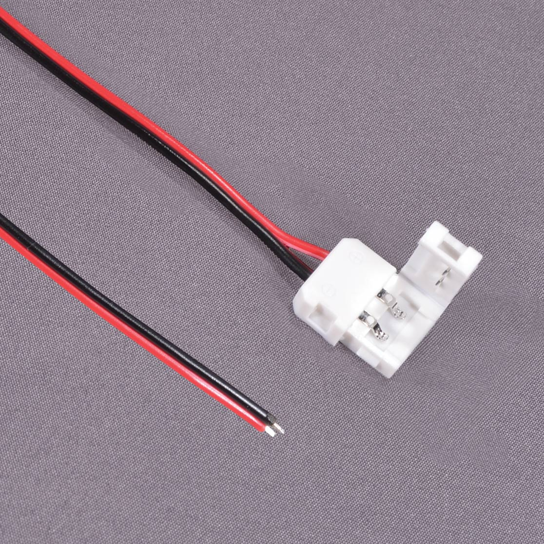Lighting led strip connector with 5 inch long flying leads aloadofball Image collections