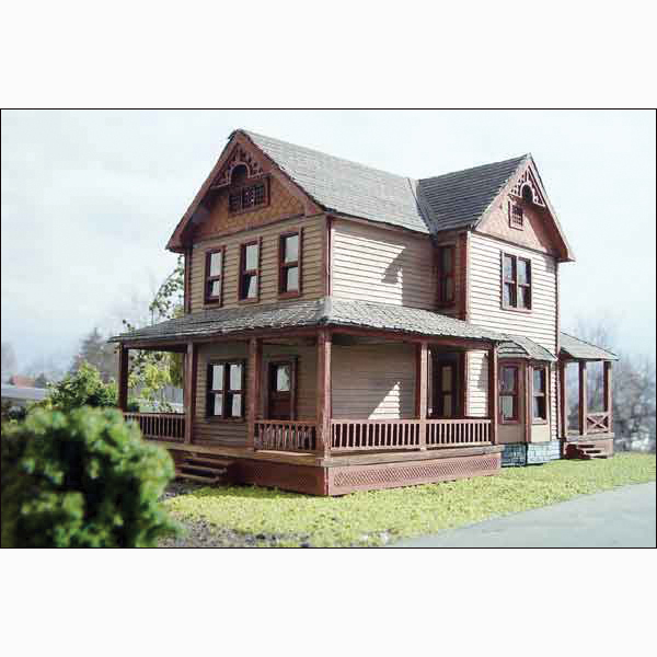 Farm House Deluxe Kit By Laser Art Structures Ho Scale
