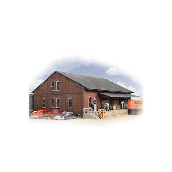 Walthers cornerstone brick freight house kit milwaukee for Brick kit homes