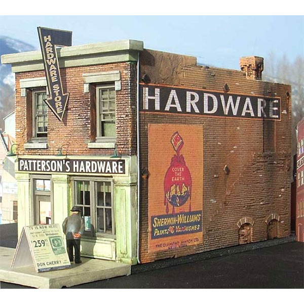 Downtown Deco HO Scale Patterson Hardware Kit