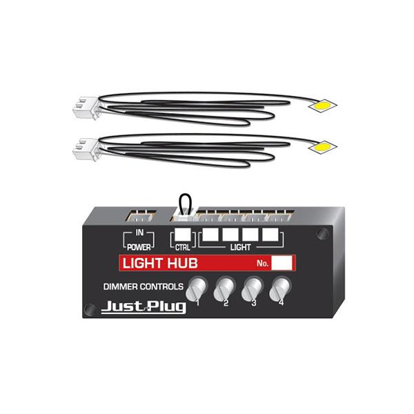 "WOODLAND SCENICS /""JUST PLUG SYSTEM/"" LIGHTING SYSTEM LIGHTS /& HUB SET"