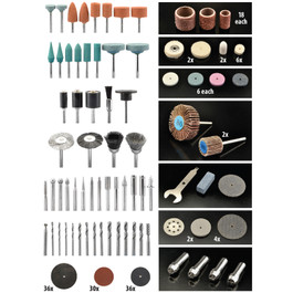 Accessory Set for Rotary Tools
