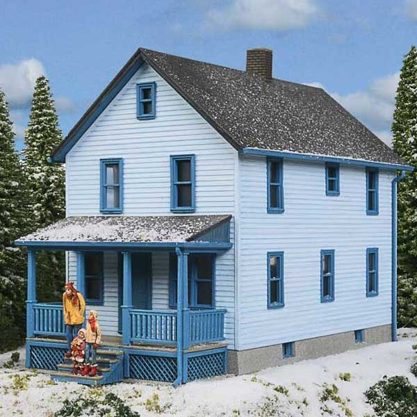 Walthers cornerstone ho scale 2 story frame house kit for 2 story kit homes