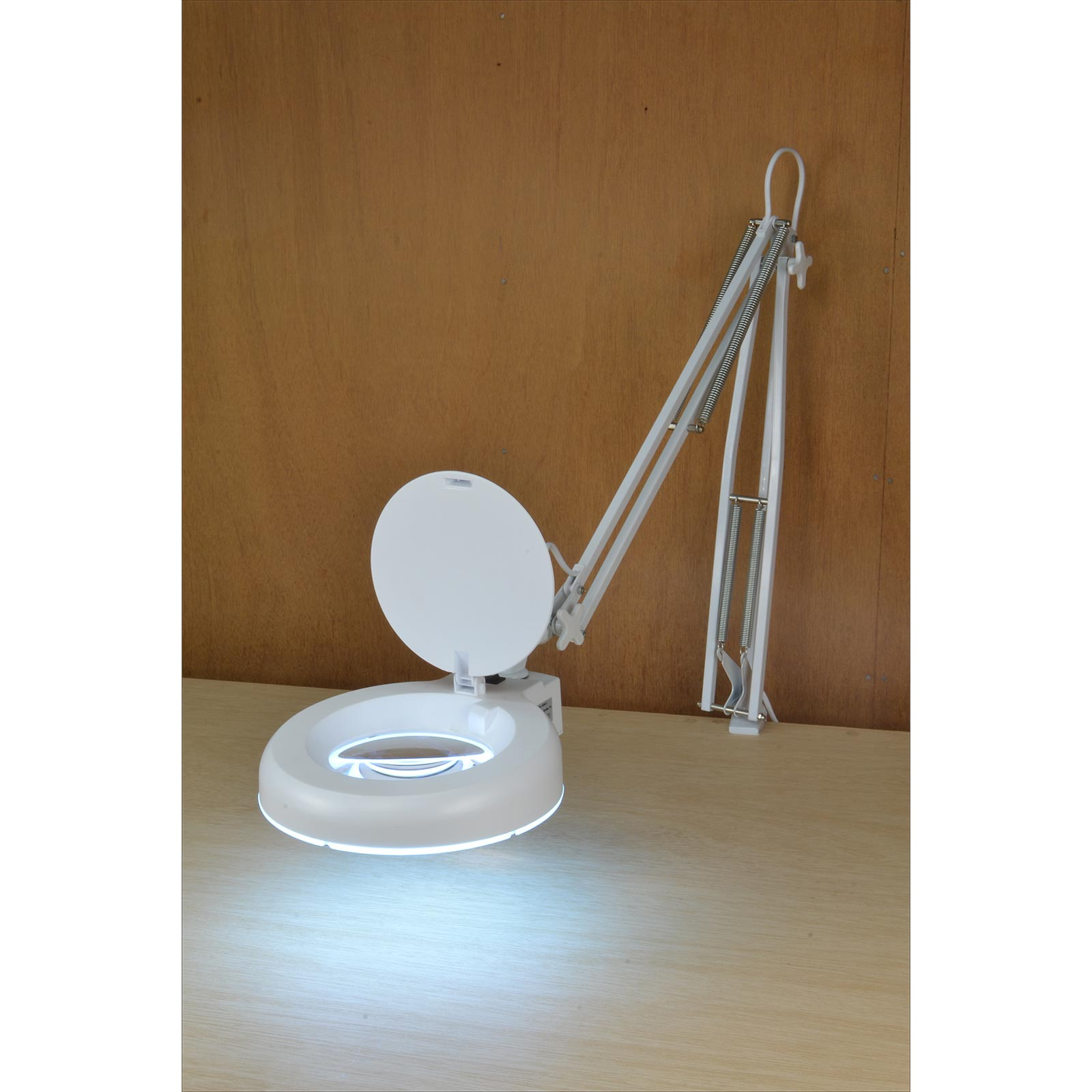 Articulated LED Lamp with Magnifier