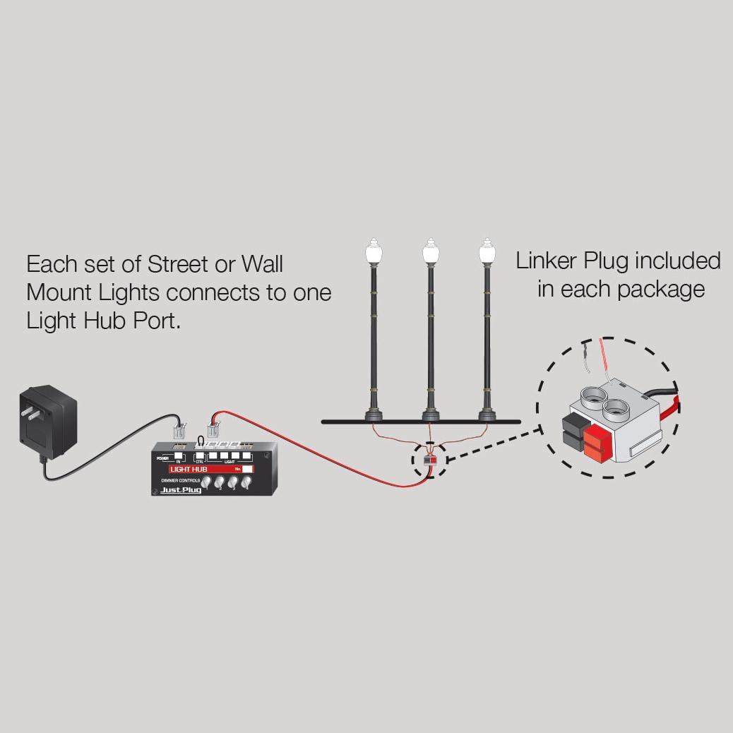 street light wiring diagram woodland scenics just plug ho scale wooden pole street lights  pkg  woodland scenics just plug ho scale