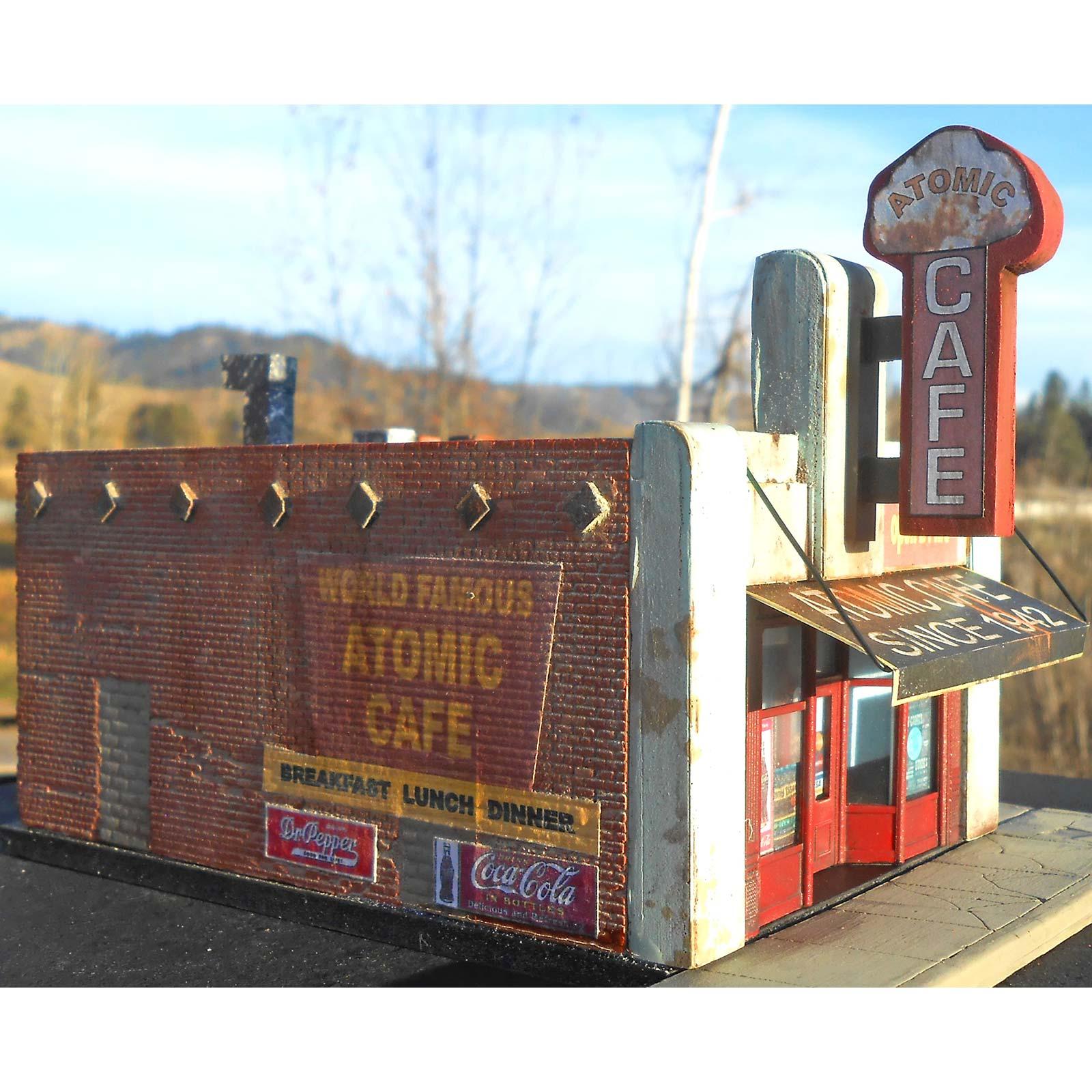 Downtown Deco Ho Scale Quot The Atomic Cafe Quot Kit