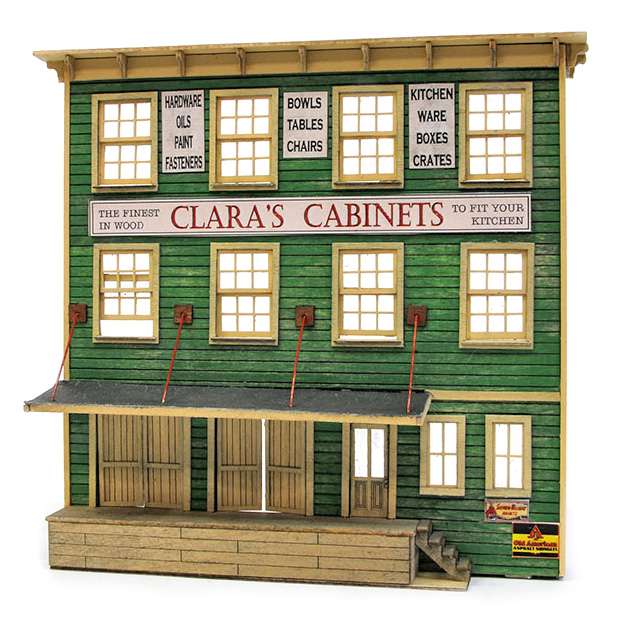 HO Scale Clara's Cabinet Kit, Front Only, by Banta Modelworks