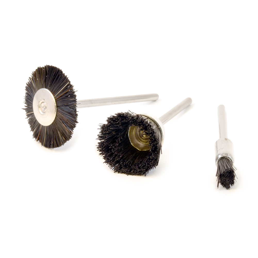 Nylon Brushes, Set of 3, 3/32 Shank