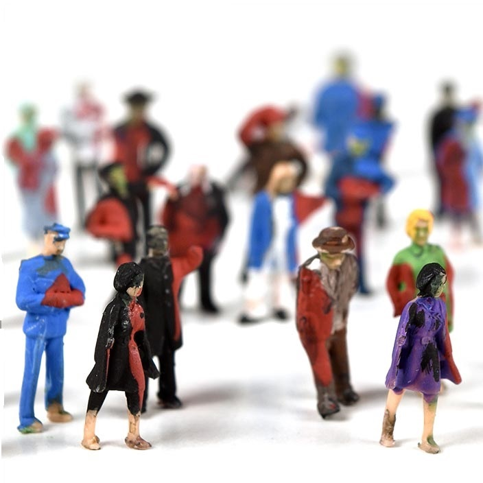 HO Scale Hand-Painted Zombie Figures, Set of 5