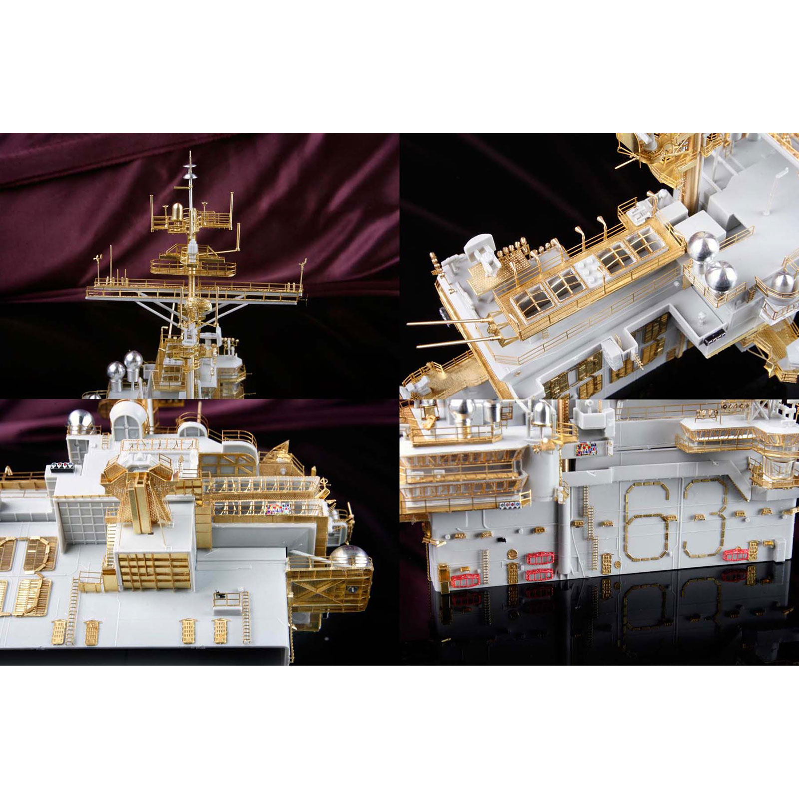 deluxe detail set for trumpeter 1  350 scale uss kitty hawk  cv