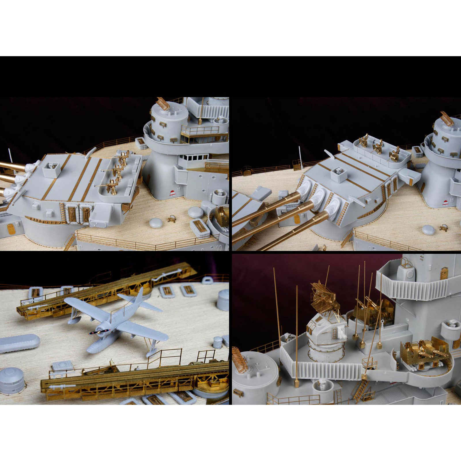 Deluxe Detail Set for Trumpeter 1/200 Scale USS Iowa (BB-61) Model Ship Kit