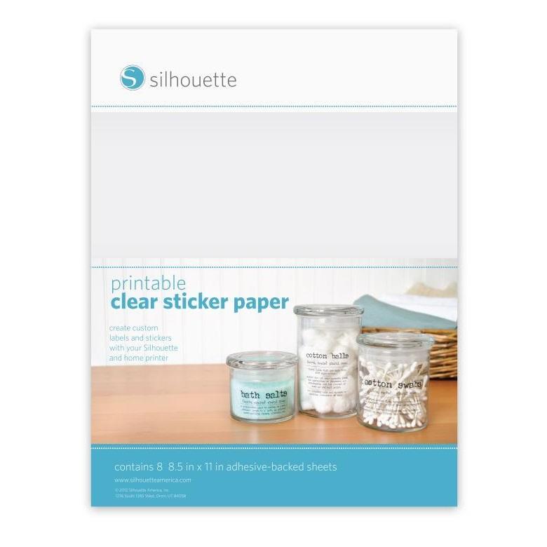 Clear sticker paper sticker paper