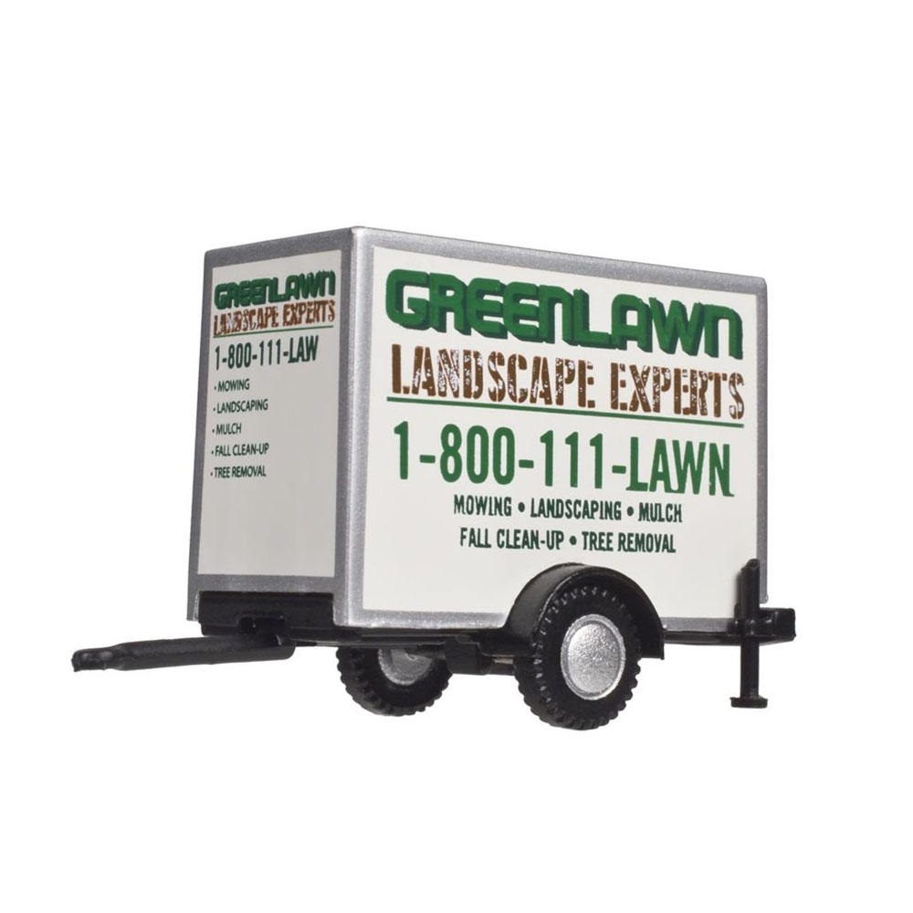 HO Box Trailer - Green Lawn