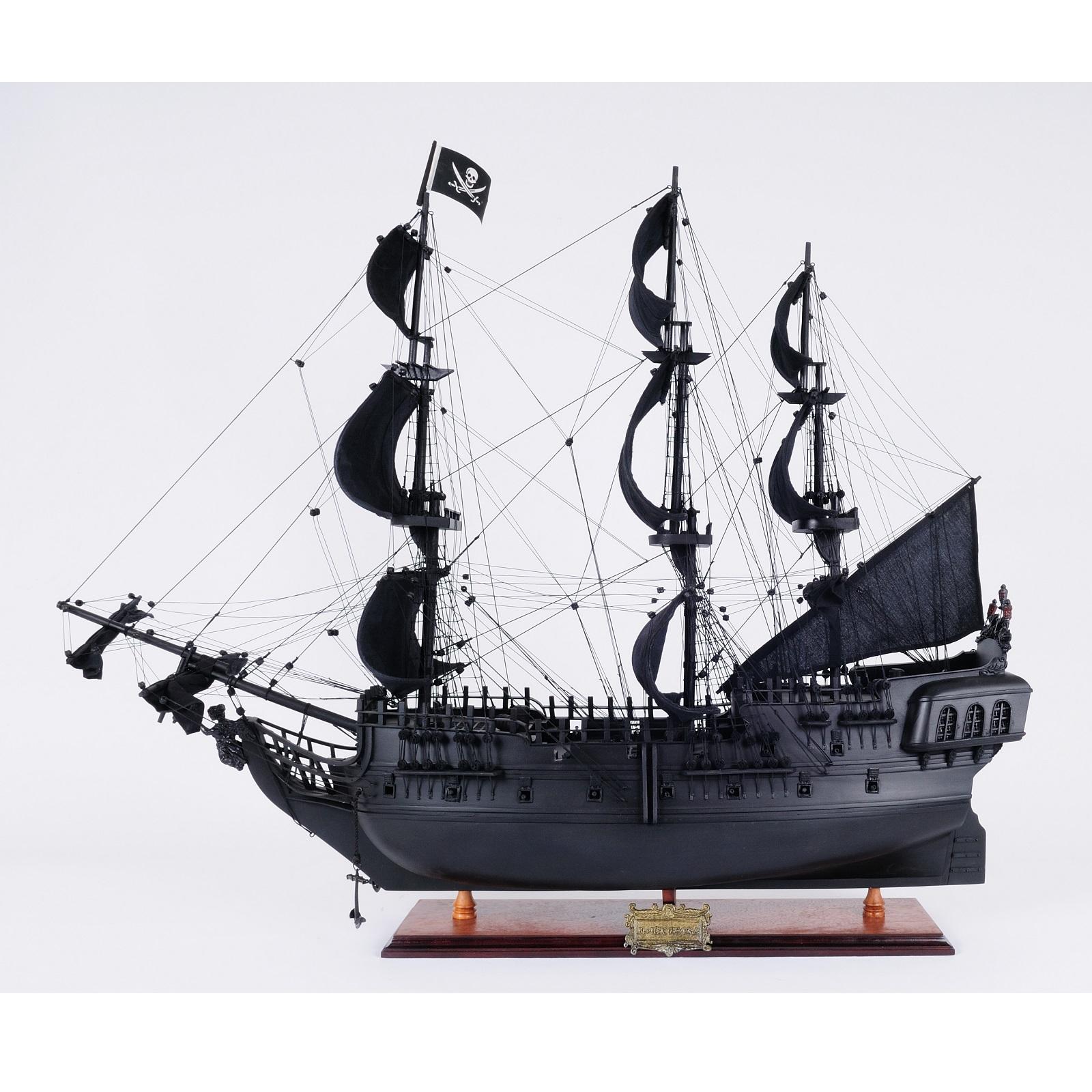 Black Pearl Pirate Ship, Fully Assembled