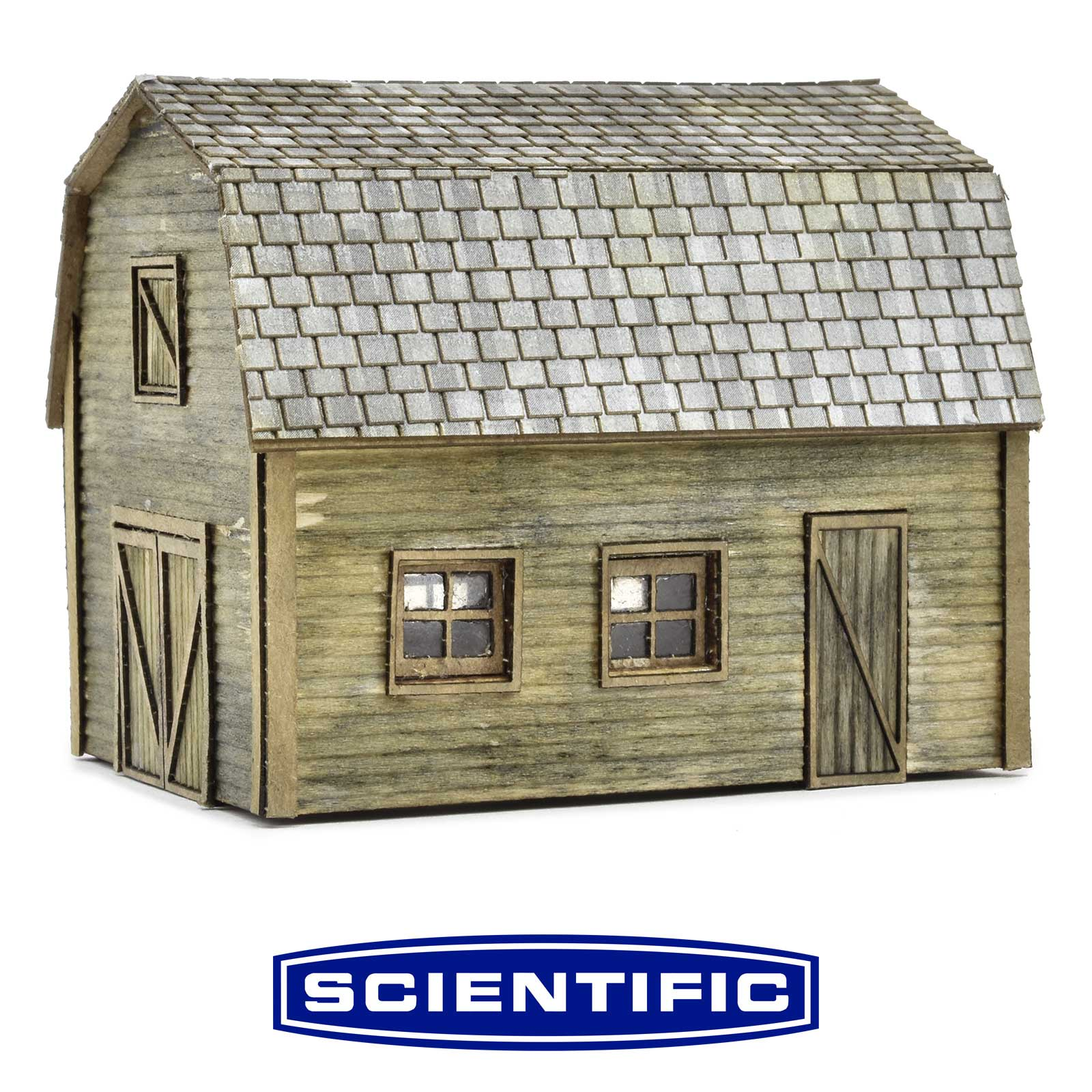 Rural Farm Structures, Set of 3 Kits, HO Scale, By Scientific
