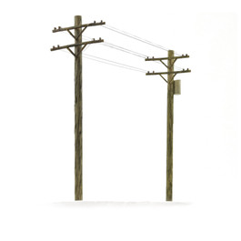 Telephone Pole Kit, HO Scale