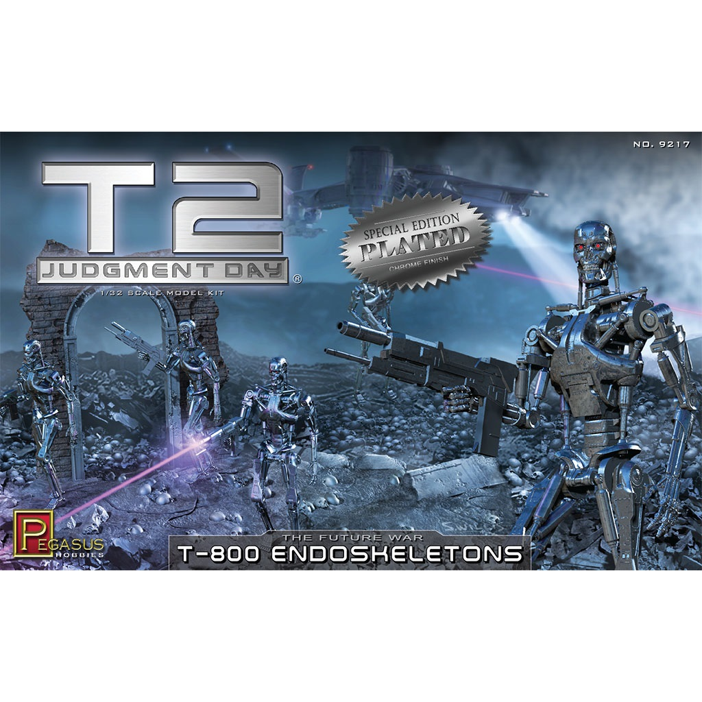 Chrome Plated T2 T-800 Endoskeleton