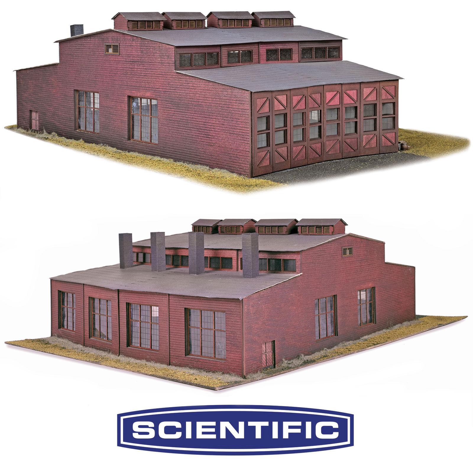 Keddie Roundhouse Kit, HO Scale, By Scientific