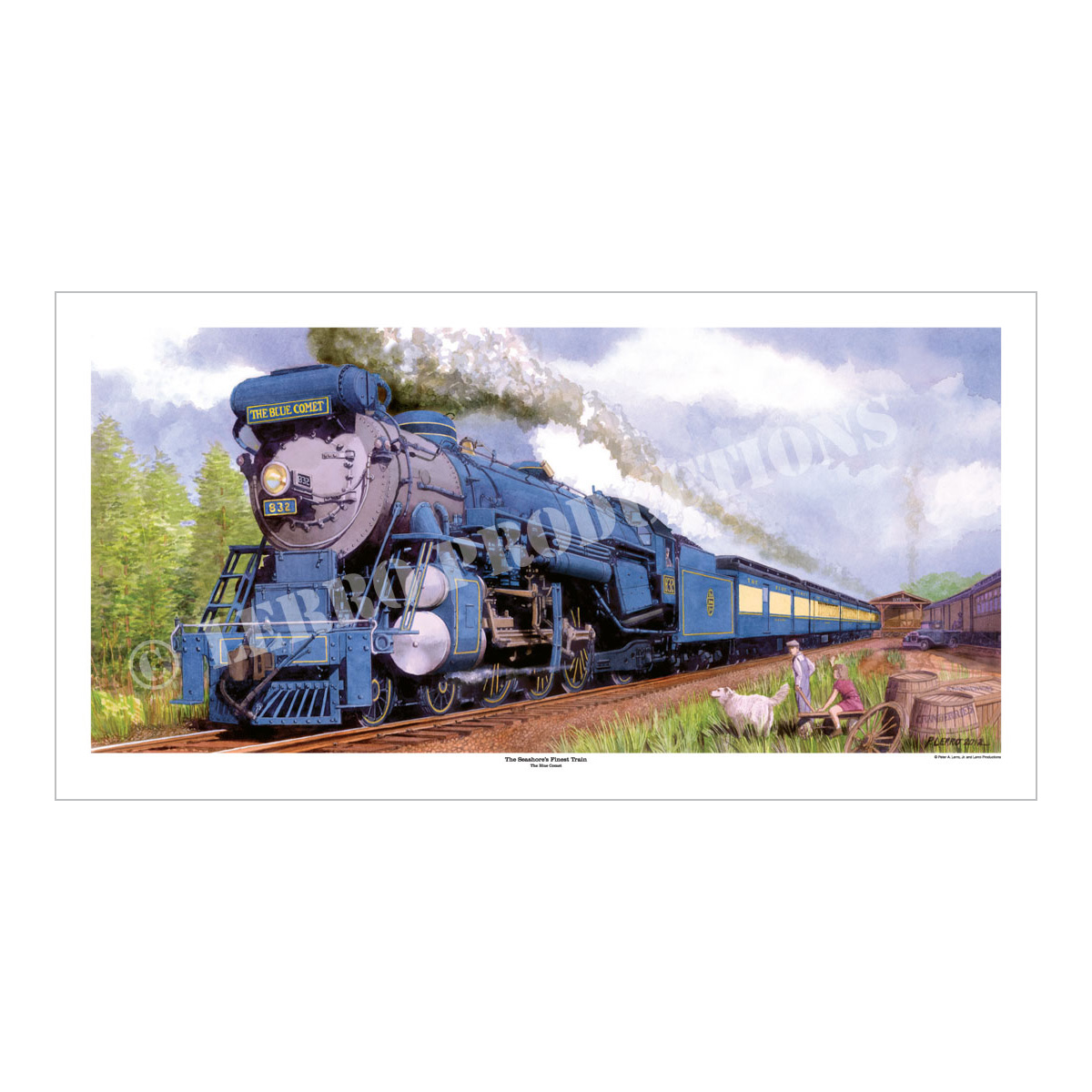 Seashore's Finest Train Art Print