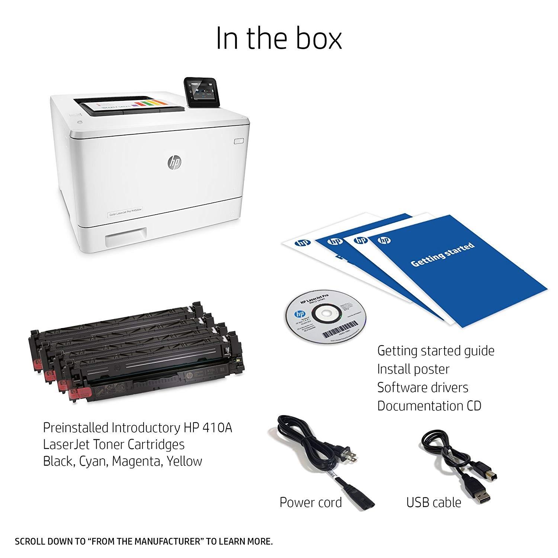 HP Laserjet Pro M452dw Wireless Color Laser Printer