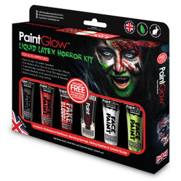 PaintGlow Liquid Latex Horror Kit