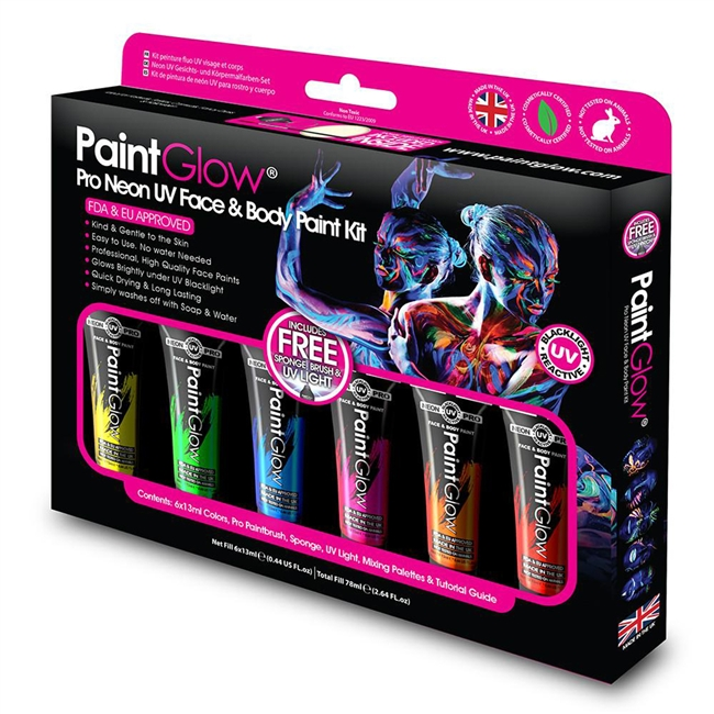 Pro PaintGlow UV Face & Body Paint