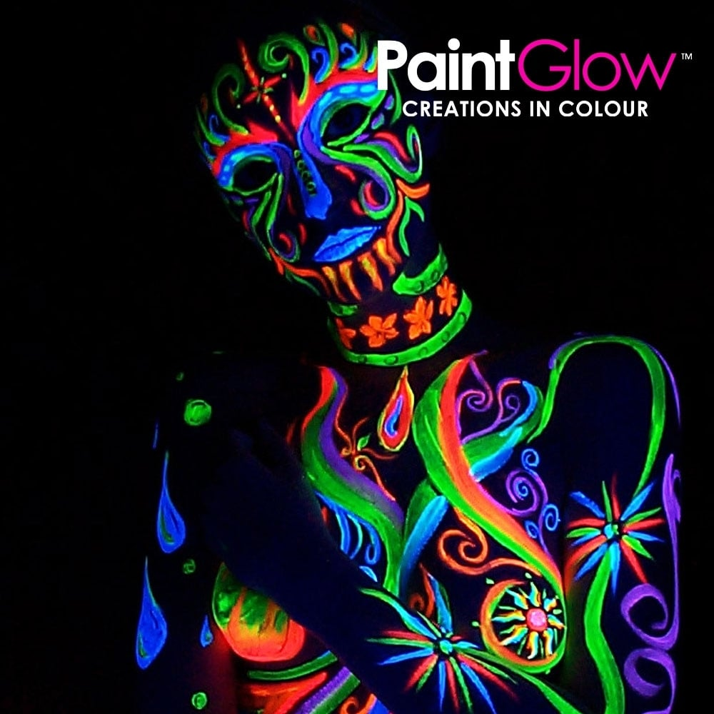 Orange Neon UV Face and Body Paint