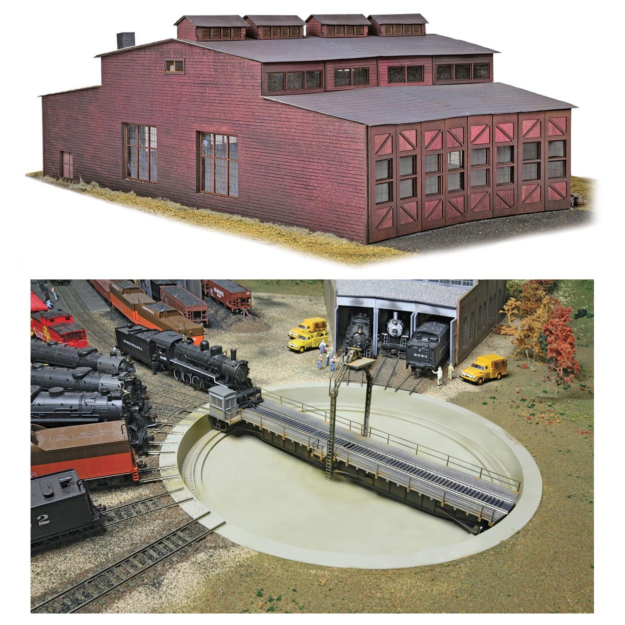 Deluxe HO Scale Keddie Roundhouse